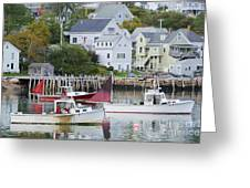 Lobster Fishing Boats Greeting Card
