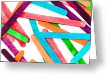 Lollipop Sticks Greeting Card