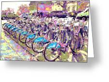 London Bikes Greeting Card