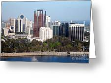 Long Beach Skyline Greeting Card