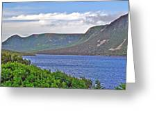 Long Range Mountains In Western Nl Greeting Card