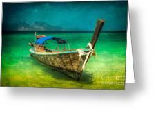 Longboat Thailand Greeting Card