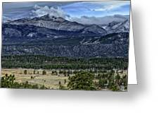 Long's Peak Greeting Card by Tom Wilbert