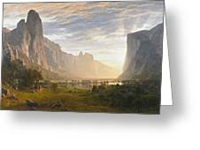 Looking Down Yosemite Valley Greeting Card