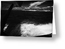 Looking Out Of Seaplane Window Landing On The Water Next To Fort Jefferson Garden Key Dry Tortugas F Greeting Card