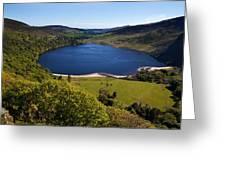 Lough Tay Below Luggala Mountain Greeting Card