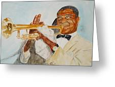 Louis Armstrong 2 Greeting Card by Katie Spicuzza