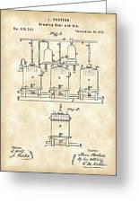 Louis Pasteur Beer Brewing Patent 1873 - Vintage Greeting Card