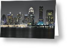 Night Lights Of Louisville Greeting Card