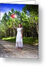 Love Heart Balloons  Greeting Card