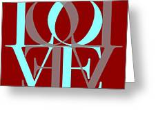 Love Typography Greeting Card