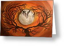 Love Under The Moon Greeting Card