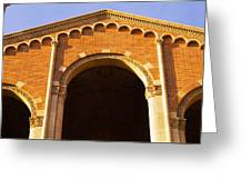 Low Angle View Of Royce Hall Greeting Card