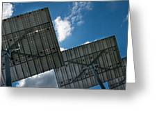 Low Angle View Of Solar Panels Greeting Card