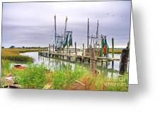 Lowcountry Shrimp Dock Greeting Card