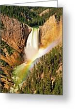 Lower Falls Rainbow Greeting Card