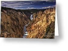 Lower Yellowstone Falls II Greeting Card