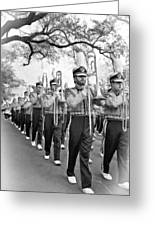 Lsu Marching Band Vignette Greeting Card