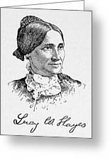 Lucy Hayes (1831-1889) Greeting Card