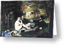 Luncheon On The Grass Greeting Card