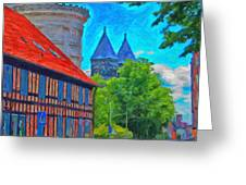Lund Street Scene Greeting Card