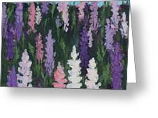 Lupines - Art By Bill Tomsa Greeting Card