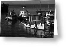 Lynmouth Harbour In Devon Greeting Card