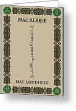 Macaleese Written In Ogham Greeting Card