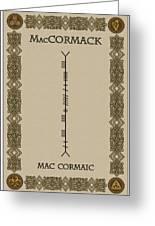Maccormack Written In Ogham Greeting Card