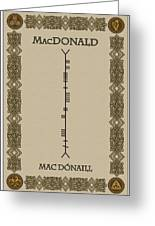 Macdonald Written In Ogham Greeting Card