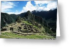 Machu Picchu Panorama Greeting Card