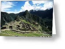 Machu Picchu Panorama Greeting Card