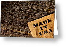 Made In Usa Greeting Card