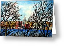 Madison Treed Greeting Card