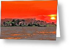Louisiana Sunset Of The Madisonville Lighthouse  Greeting Card