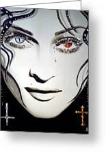 Madonna Greeting Card by Alicia Hayes