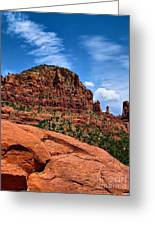 Madonna And Child Two Nuns Rock Formations Sedona Arizona Greeting Card