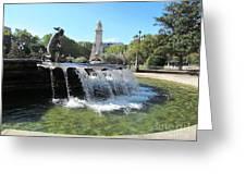 Madrid Fountain Greeting Card