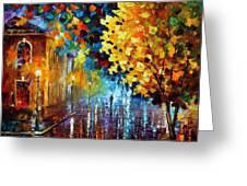 Magic Rain Greeting Card by Leonid Afremov