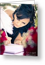 Maid Of Honour Signing Wedding Registar Greeting Card