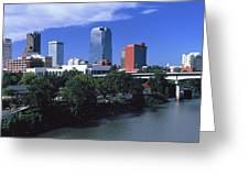 Main Street Bridge Across Arkansas Greeting Card