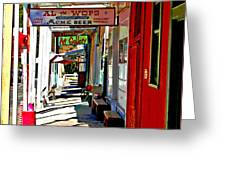 Main Street Locke California Greeting Card