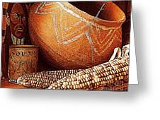 New Orleans Maize The Indian Corn Still Life In Louisiana  Greeting Card