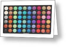 Makeup Color Palette Greeting Card