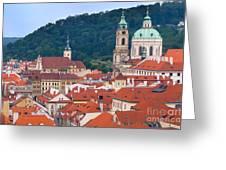 Mala Strana In Prague  Greeting Card