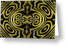 Mambo In Gold And Red Greeting Card