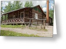 Mamma Cabin At The Holzwarth Historic Site Greeting Card