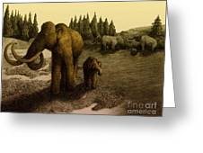 Mammoths Greeting Card