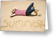 Man Of Summer Greeting Card