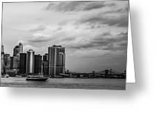 Manhattan Skyline Right Triptych Greeting Card